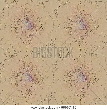 Seamless pattern abstract broken fragments light brown