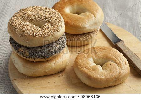 Fresh variety of New York bagels