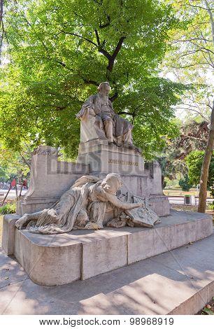 Statue Of Johannes Brahms (1908) In Vienna, Austria