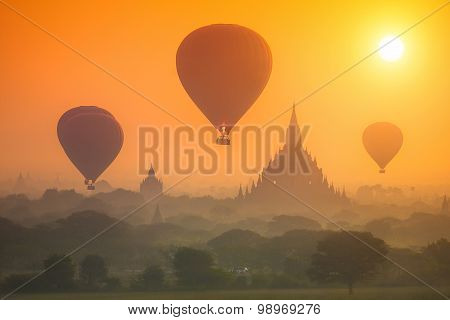 Sunrise Over The Old Bagan