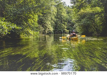 Kayaking On The Rospuda River, Poland