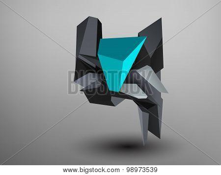 3D Prism Font - Y