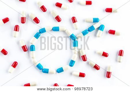 Red Capsule And Blue Capsule In Gender Symbol, Men's Health