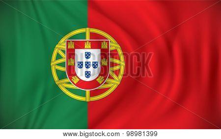 Flag of Portugal - vector illustration