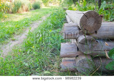 Construction Of Rural House From Logs