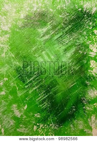 Abstract Acrylic Background Painted Hands Green