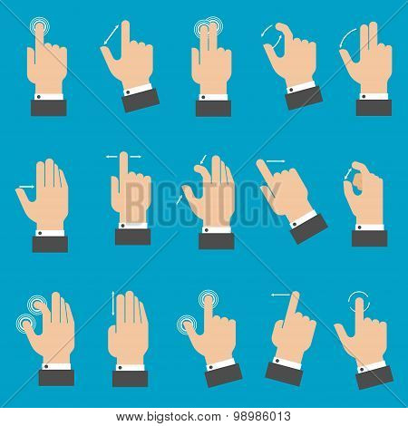 Multitouch gestures for tablet or smartphone