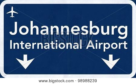 Johannesburg South Africa Airport Highway Sign