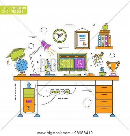 Online Education Process