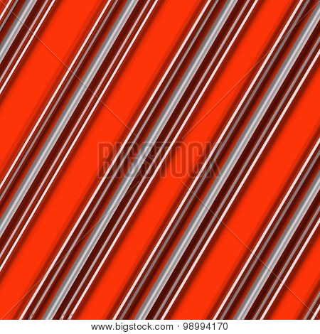 Candy Cane Pattern Orange and White