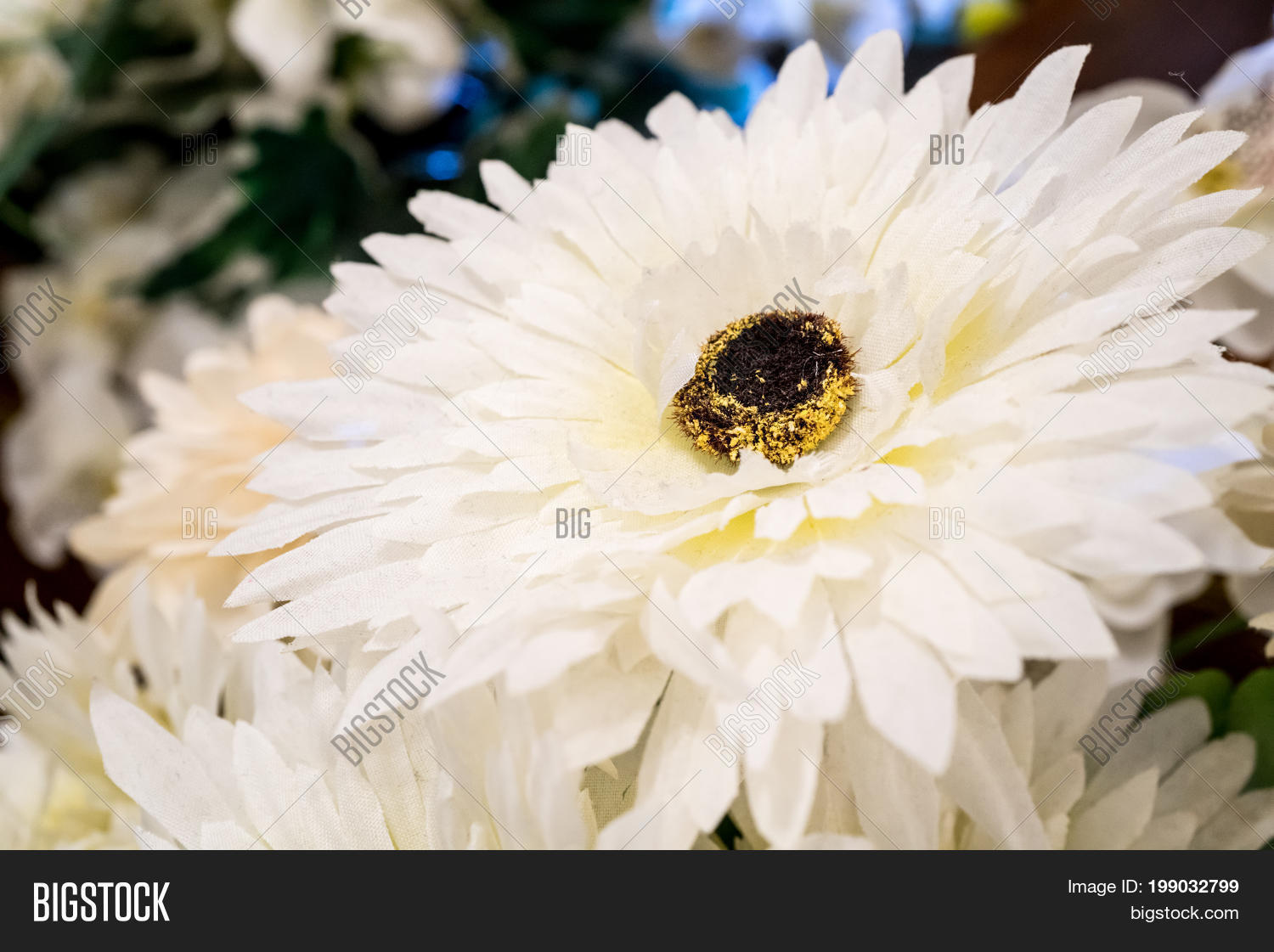 Artificial Daisy Flower Made Silk Image Photo Bigstock