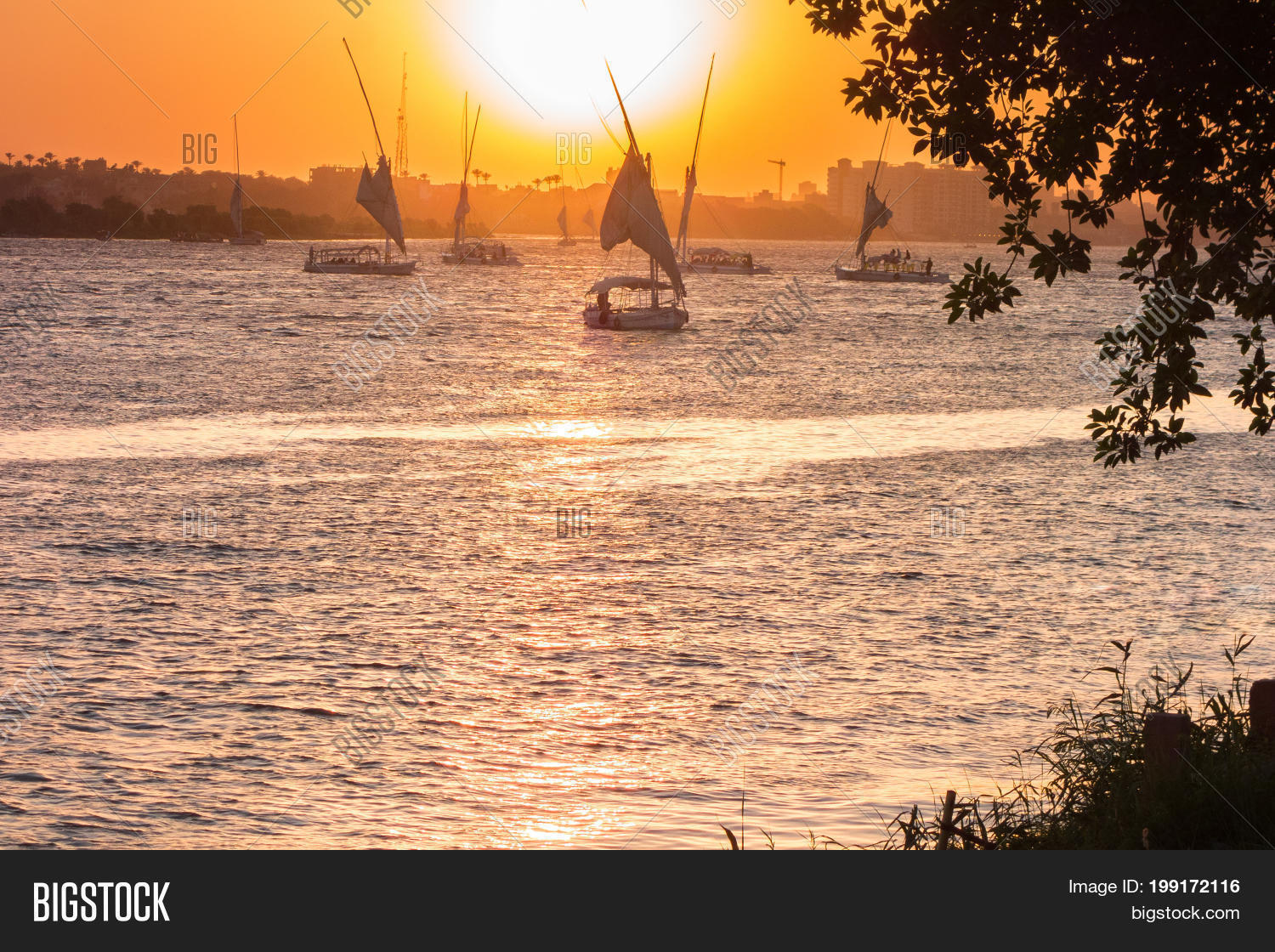 Sunset Over Nile River Image & Photo (Free Trial) | Bigstock