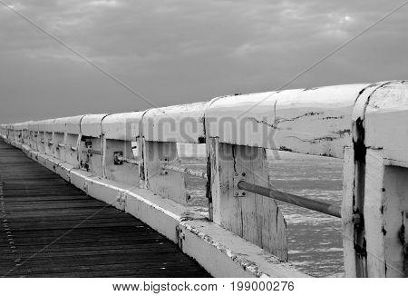 Pier in the sea by Oostende, belgium