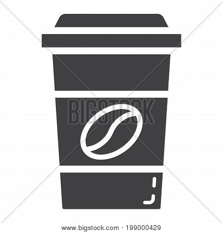 Coffee glyph icon, food and drink, cappuccino sign vector graphics, a solid pattern on a white background, eps 10.