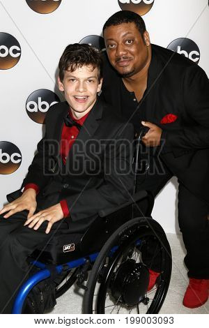 LOS ANGELES - AUG 6:  Micah Fowler, Cedric Yarbrough at the ABC TCA Summer 2017 Party at the Beverly Hilton Hotel on August 6, 2017 in Beverly Hills, CA