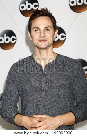LOS ANGELES - AUG 6:  Andrew J West at the ABC TCA Summer 2017 Party at the Beverly Hilton Hotel on August 6, 2017 in Beverly Hills, CA