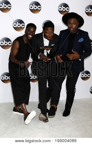 LOS ANGELES - AUG 6:  Bernard David Jones, Brandon Micheal Hall, Marcel Spears at the ABC TCA Summer 2017 Party at the Beverly Hilton Hotel on August 6, 2017 in Beverly Hills, CA