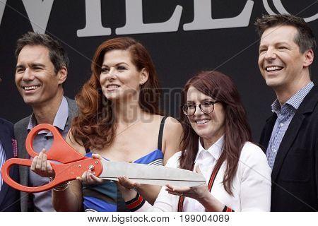 LOS ANGELES - AUG 2: Sean Hayes, Debra Messing, Megan Mullally, Eric McCormack at the