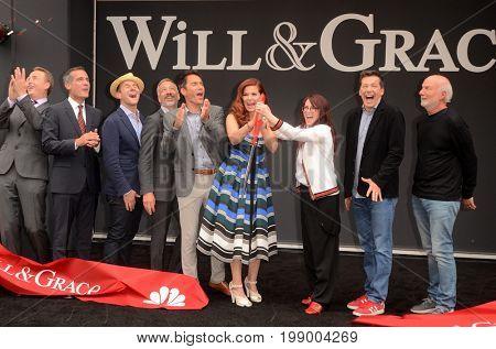 LOS ANGELES - AUG 2: Eric McCormack, Debra Messing, Megan Mullally, Sean Hayes at the