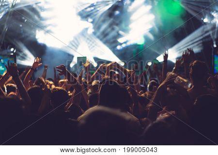 Electronic Dance Music Festival beautiful closeup picture