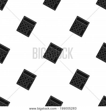 Calculator. Machine to quickly count data. Math .School And Education single icon in black style vector symbol stock web illustration.