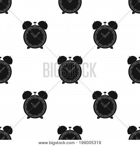 Alarm clock for early Wake up to school. Watch so as not to be late for school .School And Education single icon in black style vector symbol stock web illustration.
