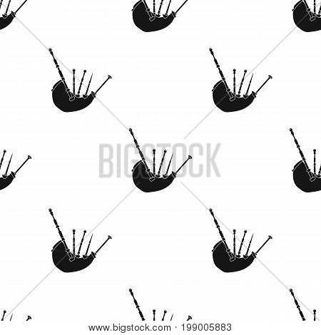 Bagpipes from a cow's stomach.The national musical instrument of Scotland.The Symbol Of Scotland.Scotland single icon in black style vector symbol stock web illustration.