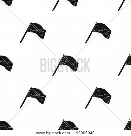 Scotland flag on a wooden stick.The Scottish national flag.Scotland single icon in black style vector symbol stock web illustration.