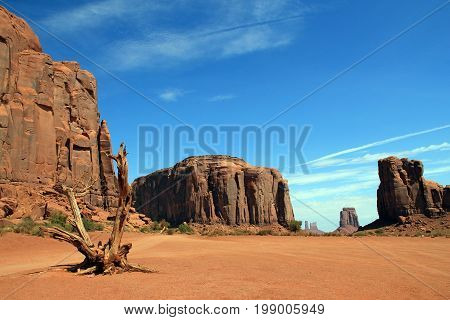 View of Monument Valley Navajo Tribal Park. Utah United States
