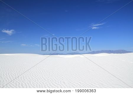 White Sands National Monument. New Mexico United States