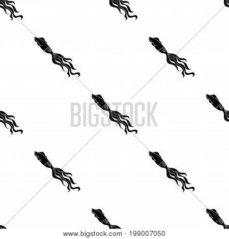 Squid icon in black design isolated on white background. Sea animals symbol stock vector illustration.