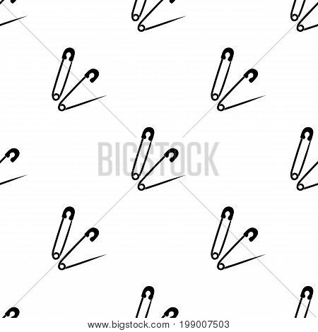 Pins for sewing.Sewing or tailoring tools kit single icon in black style vector symbol stock web illustration.