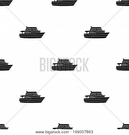 Recreational marine boat.Boat for a family holiday.Ship and water transport single icon in black style vector symbol stock web illustration.