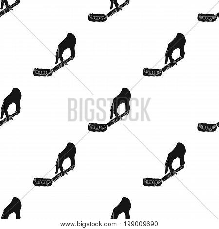 An anesthetic injection in the gum. Stomatology single icon in black style vector symbol stock illustration .