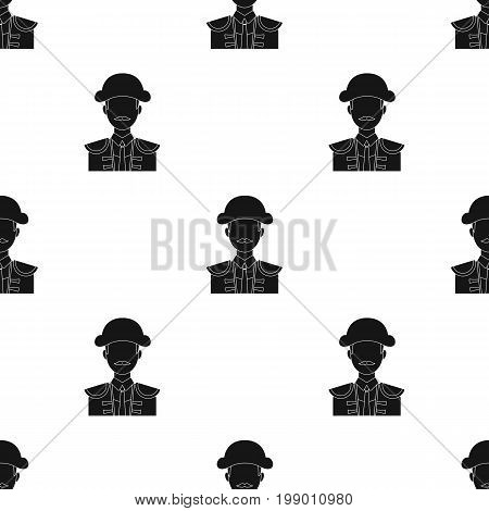 Matador icon in black design isolated on white background. Spain country symbol stock vector illustration.