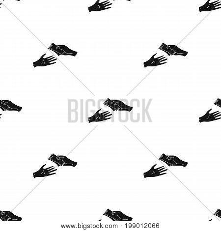 Payment icon in black design isolated on white background. Supermarket symbol stock vector illustration.