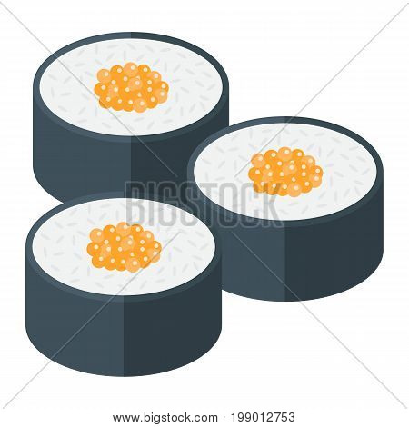 Sushi flat icon, food and drink, japanese rolls sign vector graphics, a colorful solid pattern on a white background, eps 10.