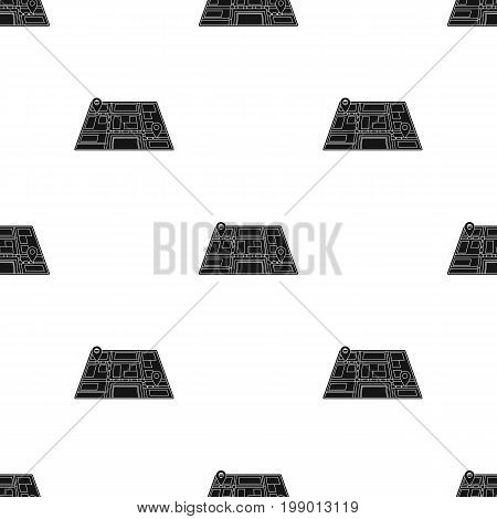 Map with the route taxi movement.Taxi station navigator for conveying passengers. Taxi station single icon in black style vector symbol stock web illustration