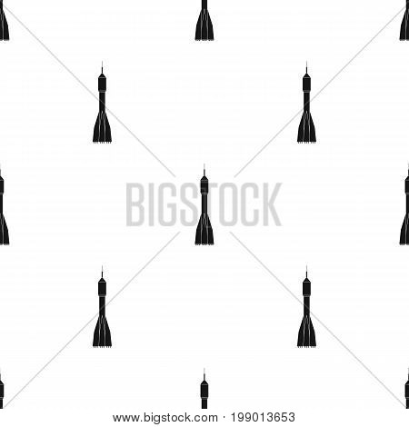 A rocket to fly into space. Transport for space exploration.Transport single icon in black style vector symbol stock web illustration.