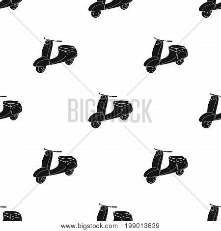 Blue two wheeled scooter. Transport for moving around the city.Transport single icon in black style vector symbol stock web illustration.