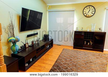 Interior Of Beige Living Room