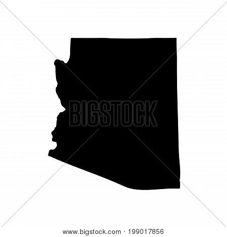 Map of the U.S. state of Arizona on a white background
