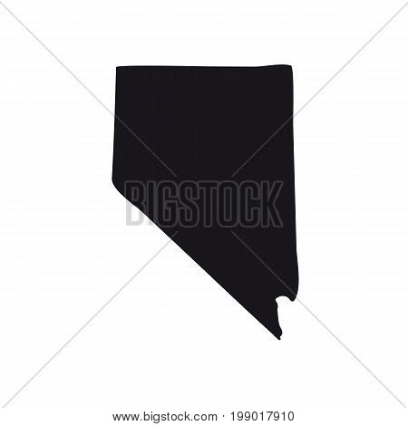 Map of the U.S. state of Nevada on a white background