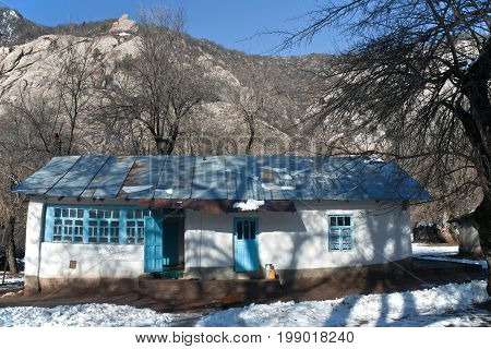 Typical private house in the mountain village of valley Sarikhosor Baldzhuvansky district Khatlon oblast Tajikistan hut structure traditional rock country