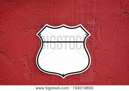 American interstate highway road shield with a white background.