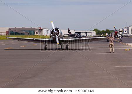 American At-6 Texan Plane