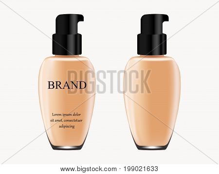 Concealer On White Background, Isolated, Tube Of Light Flesh-colored With Black Cap With Inscription