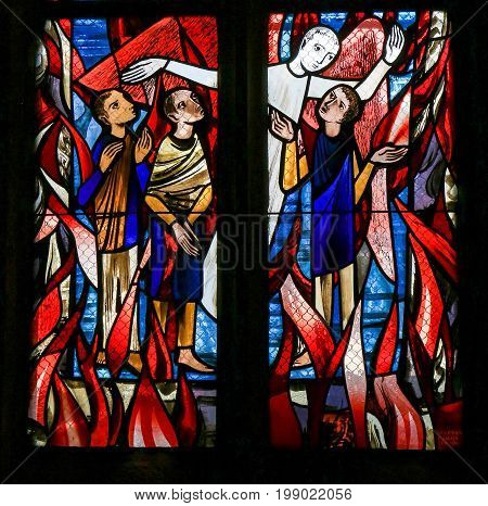 Stained Glass In Tubingen - Purgatory