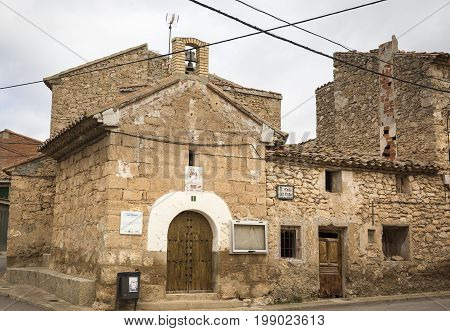 San Ramon hermitage in Fuentes Claras town, province of Teruel, Aragon, Spain