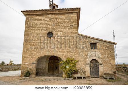 Virgen del Moral hermitage in el Poyo del Cid village, Teruel, Spain